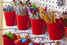 Art Supply Storage Ideas / Need some new ideas on how to store all those pencils and pens and paints?
