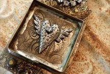 Mixed media jewelry / Jewelry, pendants, bracelets, earrings