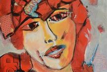 FACES - Paintings by TLJoseph / PAINTINGS: Figurative, Abstract, Acrylic, Mixed-Media Portraits created by Therese Lydia Joseph