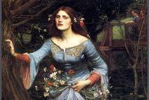 Pre Raphaelite Art / Paintings in the style of the artists of the Pre-Raphaelite Brotherhood.