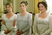 Regency / The gentlemen wore hats and the women subtle dresses. The books written by Jane Austen are from the regency era.