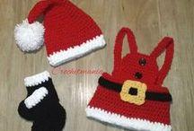 conjuntos de navidad para bebes y niños / Esta todo echo a mano y por encargo