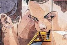 Street Art / Aryz • Etam Cru (Sainer, Bezt) • Blu • Banksy • Dran • Escif • Sat One • KD • Gemeos • Saci • Phillipe Hérard • Ron English • Sofles • Dulk • Nychos