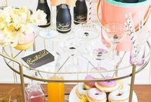 Interiors // Bar Cart Styling / How to style bar carts & drinks trolleys.