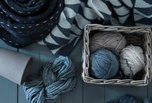 Fabric + wool = tkaniny i wełna