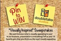 """Pin It Contests / We want to know what's visually appealing to you! This is our official """"Visual Inspiration"""" contest board. Click on the image below to read the rules :) Enter now through May 31st!  / by Doubletake Studios"""