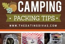 Camping Packing & Organizing / Ideas to help you get ready for your next camping trip. Whether you are staying in an RV, Trailer, Cabin or Tent. These camping, packing and organizing tips should help you out.