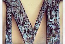 Metal, rust & foil art