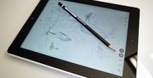 iLapis Capacitive Stylus Pencil for iPad and Android / The first and onlu Capacitive Stylus Pencil working on paper and touchscreen tablet and smartphones with the same tip.