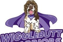 """Wigglebutt Warriors / Want to help pets in need? Then get your wiggles on and have some fun by fundraising. These are ideas and fun for dog rescues and shelters from the """"fun""""draising arm of Fidose of Reality. This is Wigglebutt Warriors."""
