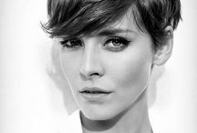 Short haircut / Short hair inspiration. Minimal haircut. Simple styling. Pixie cut.