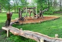 Natural Climbing Structures / We love climbing trees and structures constructed from natural materials such as oak.  Great fun for children and more adventurous and exciting than traditional climbing frames.  Here are a selection of our favourites.