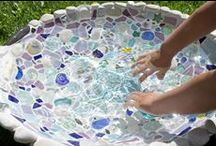 Water Play Streams / Water play streams are fantastic for children to explore, damn and experiment with.  No child can resist a paddle too!