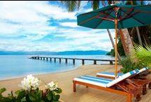 Best Fiji Beach Resort / Jean-Michel Cousteau Resort, Fiji has so many different images of the stunning beaches and skies around the resort. Visit us: Fijiresort.com