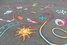 Playground Markings / Our range of colourful playground markings.
