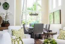 Modern Paradise | Kathy Ann Abell Interiors / Nestled in the hills of Carlsbad, this modern paradise is a few short miles from the beach. Inspired by the vibrant landscape of Hawaii, we used bright greens and crisp white to fill the space. Vaulted ceilings and expansive windows allow a breeze reminiscent of a Hawaiian paradise—add some island music, and you'll feel whisked away to the tropics. Our clients were so happy with the completed space and we were so honored to have been the ones to help create it for them.