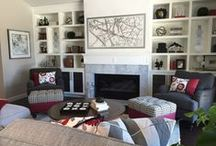 A Fresh Take on Red | Kathy Ann Abell Interiors / When this client showed us their inspiration photos it was love at first sight! We knew instantly that marrying a Transitional style with whimsical patterns and colors would be perfect for them. Red was chosen to pair with gray. These two colors truly bring out the best in one another, gray softening the bright and often harshness of red, red warming up the cold, stark feeling gray can have.