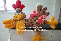 Chicken's / Artesanatos com tema: Galinhas
