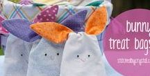 Easter sewing ideas / A selection of ideas to create small Easter hunt bags and other fun Easter sewing project ideas