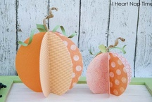 how about these little paper pumpkins / by Shelly Callahan