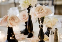 Wedding - Black and Peach