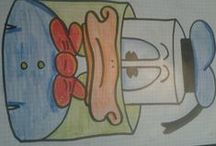 Tanja's kager / Mine egne skitser til sjove kager jeg en dag skal lave ..eller kager jeg allerede har lavet :-)