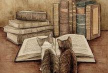 cats / katten-schilderijen, beelden, foto's
