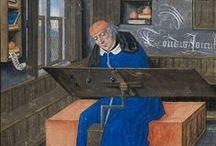 scriptorium scribe kopiist / miniaturen