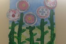Spring has Sprung / Flower art with Mrs O'Shea for the upcoming art show - In the Garden