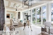Contemporary Home Decor / Magnificent home with beautiful coastal themed decor, impressive interior design, and an ocean view.