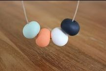 Polymer clay bead