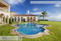 Pools / A collection of our favorite home pools capturing Florida's sunlight creating a vacation getaway feel.