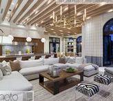 Coastal Floridian Estate / A magnificent contemporary mansion with beautiful coastal themed decor and impressive interior design.