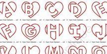Typografia fonts / Fonts and handmade letters
