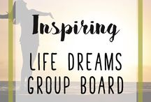 Inspiring Life Dreams Group Board / Let's make this group board something special! Inspiring topics only - anything to do with chasing your dreams and living your best life. Vertical pins and no duplicates please. Must repin once for every one pin you post. Maximum posting of 3 pins daily. To join please follow my main board and this group board and then email me at inspiringlife (at) optusnet (dot) com (dot) au