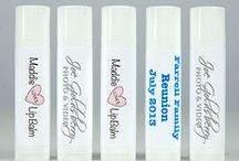 Personalized Lip Balms / Photos of some of the personalized lip balms we have created for people, businesses, and everything in between. What can we create for you? www.MaddieLovesLipBalm.com