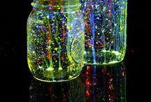neon black-light party ideas