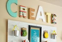 Pretty and creative crafting spaces