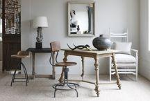 # Home offices # Quartos com escritórios. / Acomodar num quarto ou sala, um pequeno escritório para administrar as contas da casa. / by Luci Busnardo 1