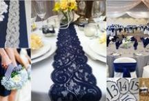 WEDDING IN BLUE WHITE & BURLAP / Inspiration boards for a wedding in blue,white and burlap themed.