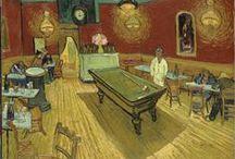 Pós-impressionismo / O estilo pós-impressionista teve origem no Impressionismo, ou seja, na ruptura com a arte acadêmica e sua decomposição cromática. Os pós-impressionistas abrangem pintores de tendências bem diversas, como Gauguin, Cézanne, Van Gogh e Seurat, que tinham em comum o objetivo de enfatizar a expressão de suas emoções e sensações através da cor e da luz.