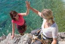 Rock-climbing women / Rock-climbing women