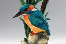 Porcelain bird figurines / Porcelain bird figurines