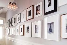 Portrait Display Ideas / How to arrange all of your Sweet Lime Portrait Design portraits.  Wall arrangements + inspiration for every room in your house.