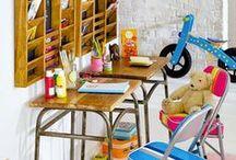 Meubles et décoration / Le recyclage et la récupération de matériel réformé des collectivités nous inspirent pour décorer nos intérieurs.