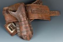 Leather / Chaps, holsters, cuffs, gunrigs and other highlights from auctions past and present.