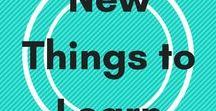 New things to learn / Online courses and resources to learn new skills. Language learning, blog training, and career development