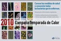 Campaña Temporada de Calor 2010 / Una campaña con un llamado a la acción, invitando a mejor conocer las medidas preventivas para no enfrentar enfermedades.