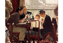 Norman Rockwell = Americana / His illustrations were commentaries on life.