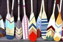 Hand painted Paddles / Pagaies peintes à la main \ Hand painted canoe paddles